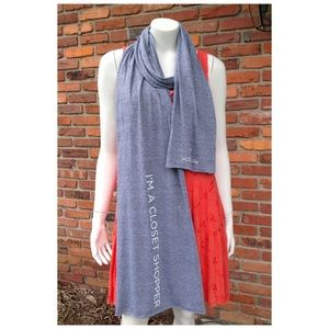 Poshmark Accessories - NEW POSHMARK lightweight knit gray grey scarf wrap