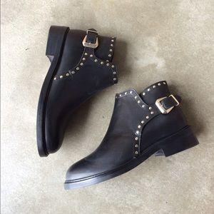 Topshop Shoes - Top Shop Studded Ankle Boots