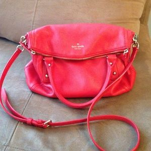 Red Leather Kate Spade Bag