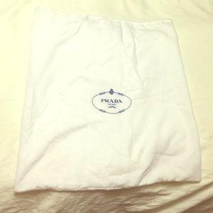 60% off Prada Handbags - Large white Prada dust bag with classic ...