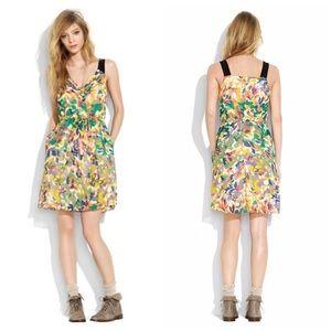 Madewell Silk Floral Croquet Silk Dress XS