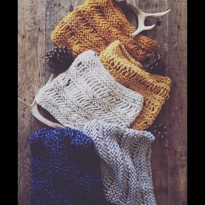 Hand-Knit Cowl Scarves