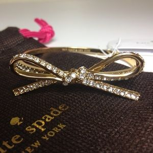 NWT Kate Spade Pave Bow Bracelet - GOLD