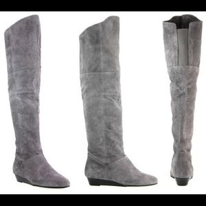 Chinese Laundry Turbo knee high suede boots