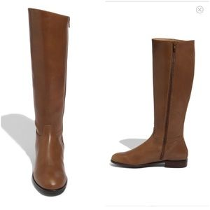 Classic Brown Leather Riding Boot