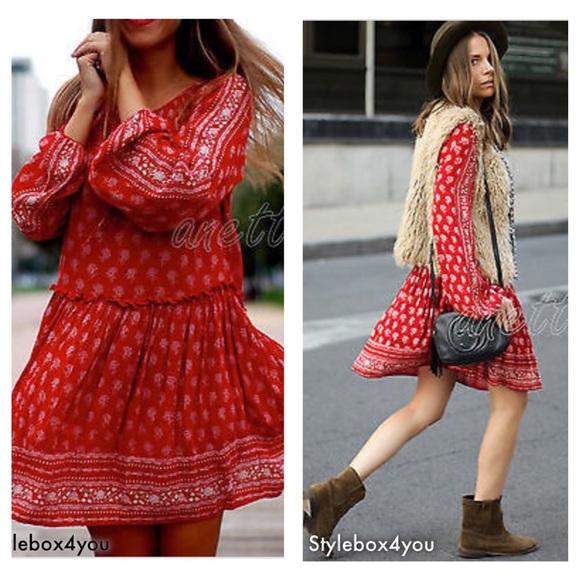 860acf8374e9 Red Boho Dress Related Keywords   Suggestions - Red Boho Dress Long ...