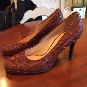 Cole Haan Woven Leather Pumps