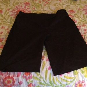 Pants - Black Knee Length Shorts