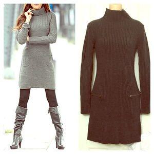 EUC Grayish Black Zippered Sweater Dress XS-S