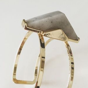 Faux marble gold tone cuff