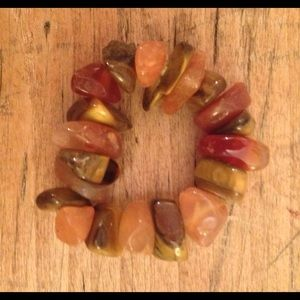 Carnelian Tigers Eye Chip Ring