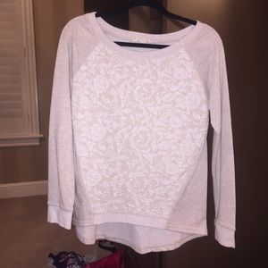 Cream/beige sweater. Size small!