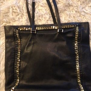 Zara 100% leather tote