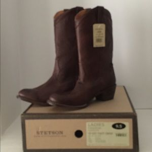 Stetson Ficcini Brown Western Boots🔴Sale🔴🔴HP🔴