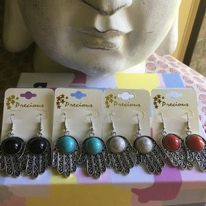 MOVING SALE!!•Hamsa Earrings• Choose your color!