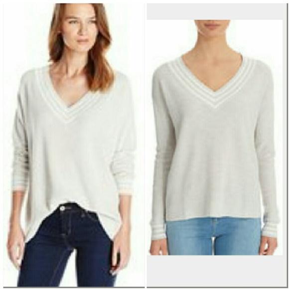 26d0481d70f5 Joie Sweaters | Soft Rikka Vneck Gray White Sweater Xs | Poshmark