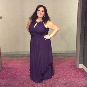 4c172da624093 Eliza J Dresses - 💜HP💜 Purple Embellished Keyhole Neck Dress Gown