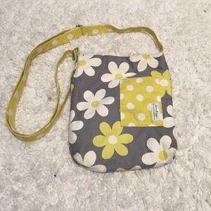 Handbags - Flowered Cross Body Purse