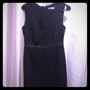 Black Calvin Klein sleeveless work dress