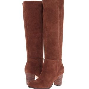 Cole Haan Cassidy Tall Suede Boots Brown 7.5