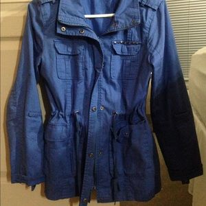 Hive and Honey Blue Military Cargo Jacket