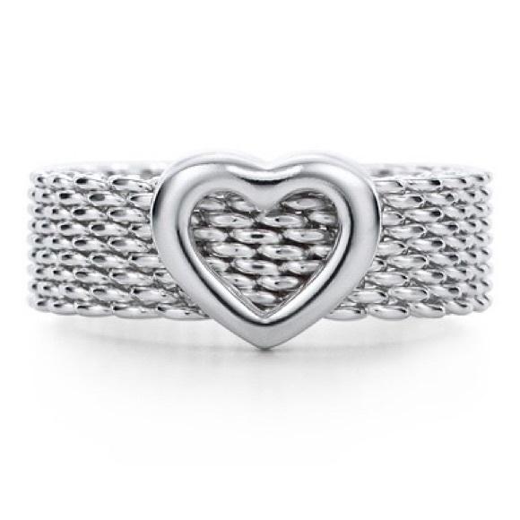 Tiffany Co Jewelry Tiffany Heart Mesh Ring Poshmark