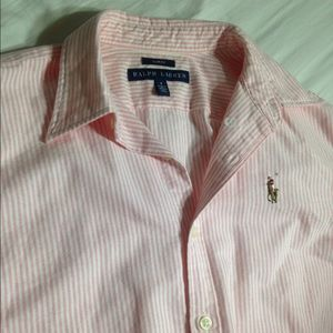 Ralph Lauren Polo Pony Striped Blouse