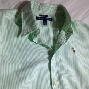 Ralph Lauren Polo Pony Striped Blouse 8