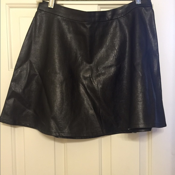 American Eagle Outfitters Dresses & Skirts - Black Leather Mini Skirt