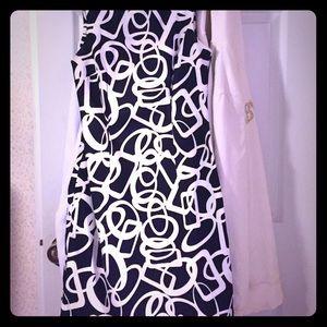 Size 4 Black/white dress