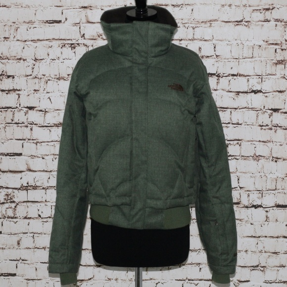 aa9021402 North Face Down Quilted Puffer Jacket Coat Army
