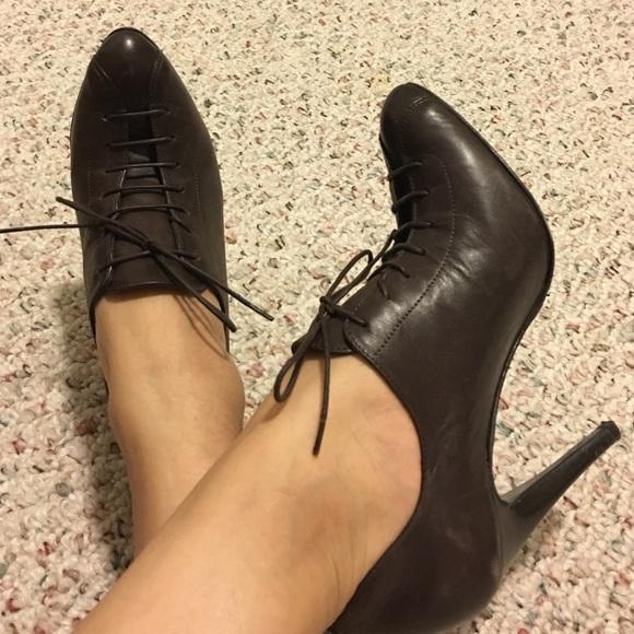 78% off Grigiarancio Shoes - Grigiarancio Leather Lace Up Heels ...