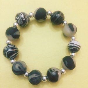 Polymer clay bracelets.