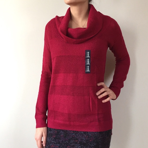 84% off GAP Sweaters - Gap Waffle Knit Cowl Neck Sweater from ...