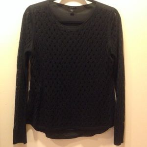 Ann Taylor Black Sweater Top