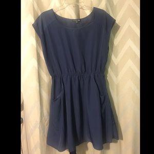 Large Navy Cotton On Pocket Dress