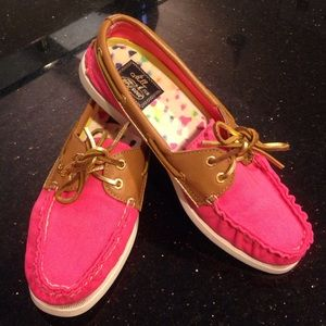 Sperry Pink Topsider Boat Shoe 7.5