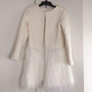 Jackets & Coats - Fur trim coat