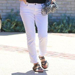 Paige white cropped denim jeans