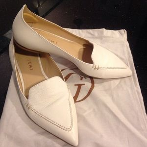 M. Gemi Stellato White Pointed Toe Loafer Flat 38