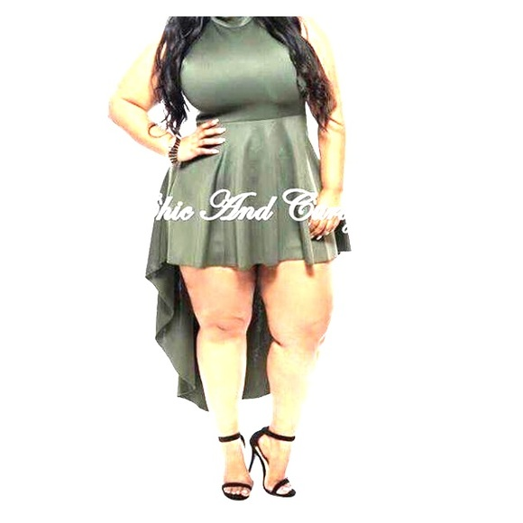 Eien Dresses | Olive Green High Low Plus Size Dress | Poshmark
