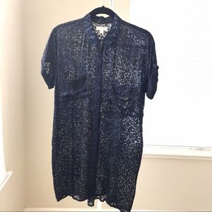Urban Outfitters Dresses - NEW Silence+Noise blue button-down shirt-dress