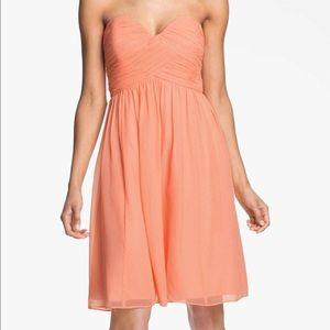 🎉HP🎉•Donna Morgan•100% Silk Coral Prom Dress