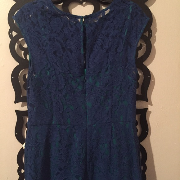 Ivy & Blu  Dresses - Blue lace dress