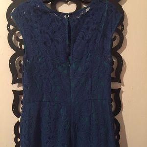 Ivy & Blu  Dresses - Blue lace dress