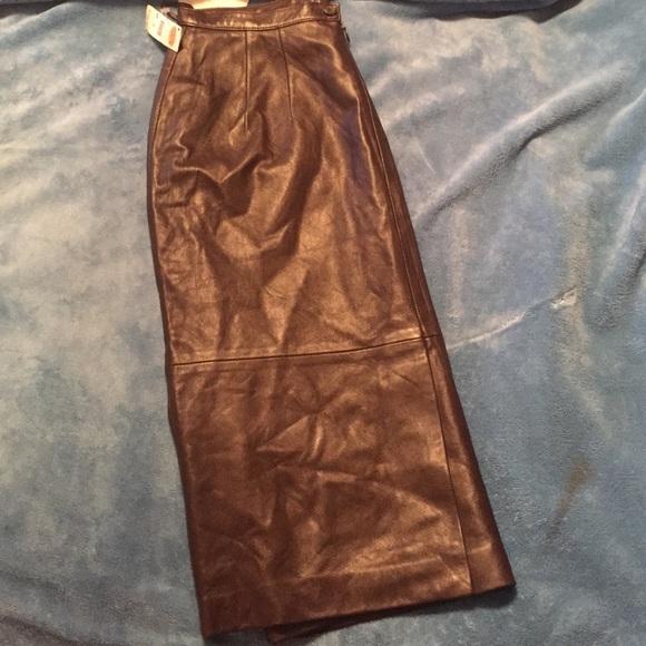 76 talbots dresses skirts brown leather talbots