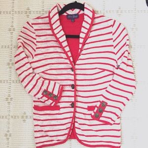 Like NEW soft knit stripe blazer