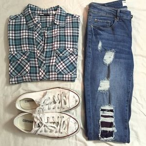 Blue flannel urban outfitters