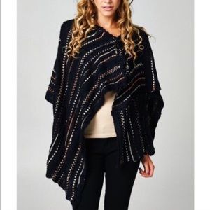 SALEThe ADONA Knit poncho - DEEP NAVY