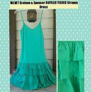 Velvet Dresses & Skirts - Velvet Graham Spencer Tiered Ruffled Strappy Dress